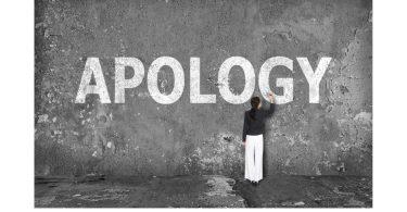 Apologize to God