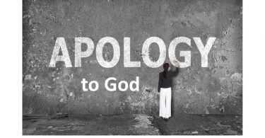 Apology to God