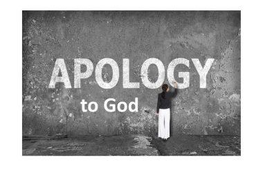 Apology to God