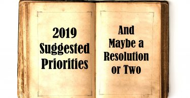 New Year Suggested Priorities