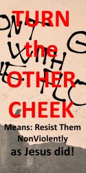 Turn the Other Cheek Means Resist Them, NonViolently