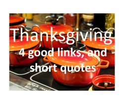 Thanksgiving - 4 Good Short Articles